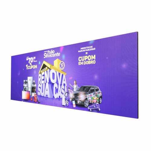 Painel De Led Publicidade P3.91 3m X 1m Full Color Mídias Indoor