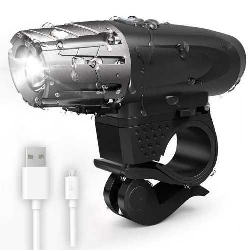 Lanterna de LED para Bike Recarregável com Cabo USB