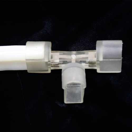 Conector Formato de T Para Mangueira De Led Neon Flex