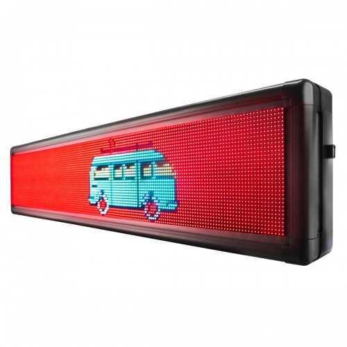 Painel de LED, Letreiro Digital RGB  135cm x 23cm Colorido P5