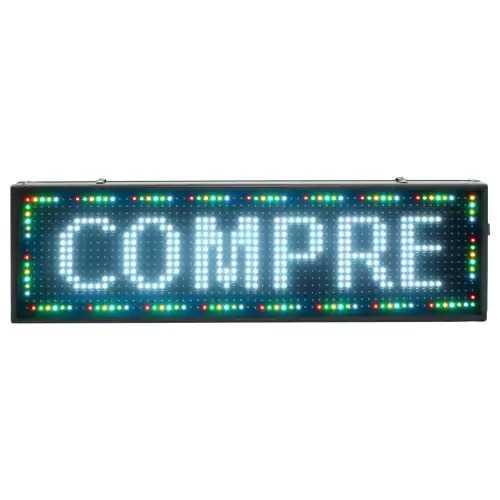 Painel de LED, Letreiro Digital RGB 72cm x 56cm Colorido Full color P10