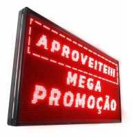 Painel De LED, Letreiro Digital 103cm x 71cm Alto Brilho USB