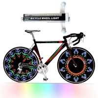 Pito De Led Acessório Para Bicicleta 42 Efeitos Válvula Para Raios bike