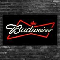 Letreiro Led 44x24cm Painel Placa Luminosa Cerveja Budweiser