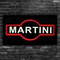 Letreiro Em Led 44cm x 24cm Placa Luminosa Escrito Martini