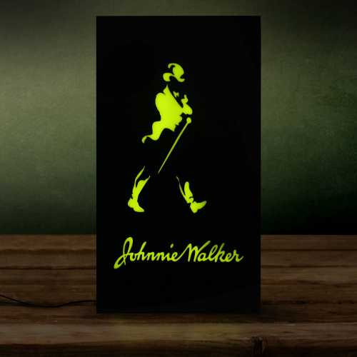 Placa De Led Letreiro Luminoso 44cm x 24cm Bebidas Johnnie Walker Neon