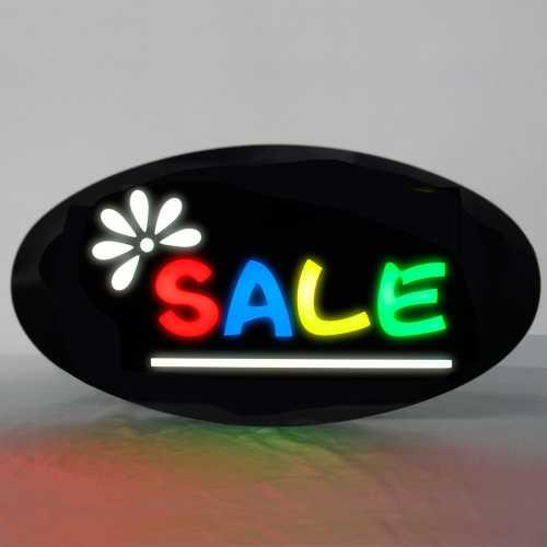 Placa De Led Sale 43cm x 23cm Letreiro de Sinalização Luminoso Venda Efeito Neon