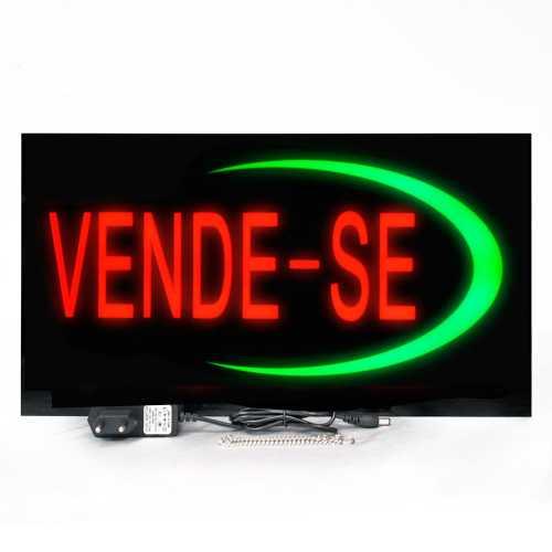 Placa De Led Vende-se 44cm x 24cm Letreiro de Sinalização Luminoso Venda Efeito Neon