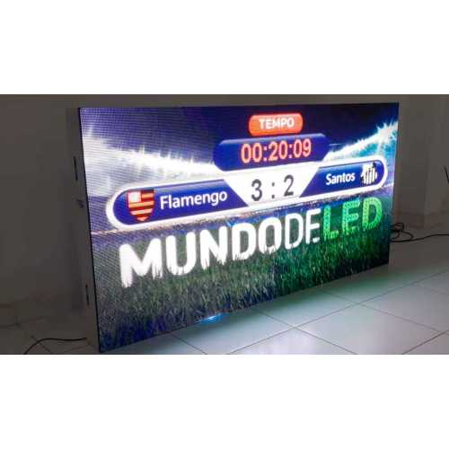 Placar de LED, 192 cm x 96 cm  Painel Luminoso de LED Full Color P5