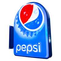 Letreiro Luminoso Pepsi 75cm Bar Dupla face Outdoor