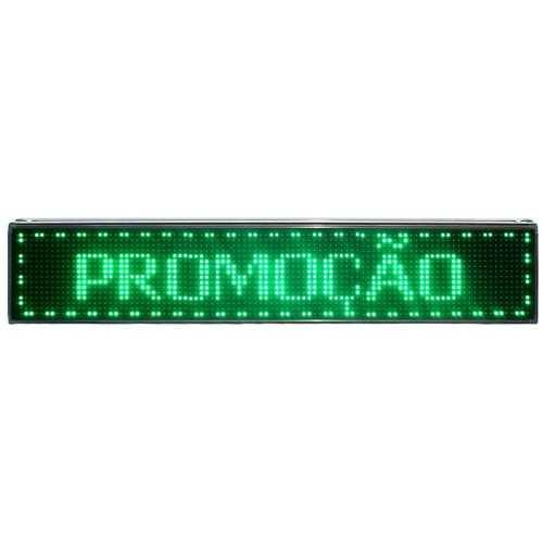 Painel Dupla Face 100cm x 40cm Verde Externo USB + WIFI
