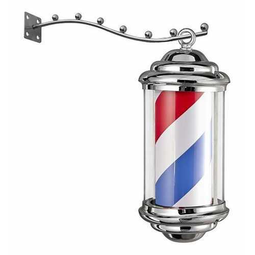 Barber Pole Poste De Barbeiro Aço Inoxidável Outdoor 35cm x 15cm