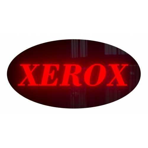 Placa De Led Xerox 43cm x 23cm Letreiro de Sinalização Cópia Luminoso Efeito Neon