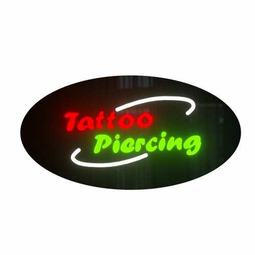 Placa De Led Tattoo Piercing 43cm x 23cm  Letreiro de Sinalização