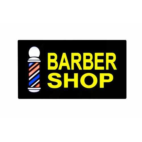 Quadro Luminoso Barbershop Led  43cm x 23cm Letreiro Decoração Barbearia