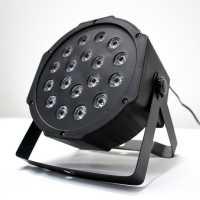 Canhão de LED Para Festas Par Led com 18 LEDs RGB