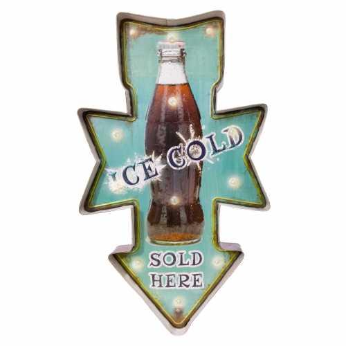 Luminária Retrô De Parede Vintage Placa de Led ICE COLD para Decoração Sold Here