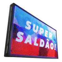 Painel De LED RGB, Letreiro Digital 100cm x 72cm Colorido Alto Brilho