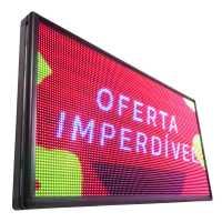 Painel De LED RGB, Letreiro Digital 135cm x 72cm Colorido Alto Brilho