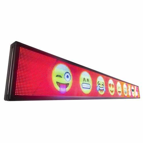 Painel De LED RGB, Letreiro Digital 3m x 40cm Colorido Alto Brilho USB