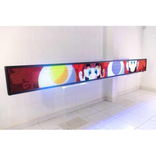 Painel De LED RGB, Letreiro Digital 4m x 40cm Colorido Alto Brilho USB