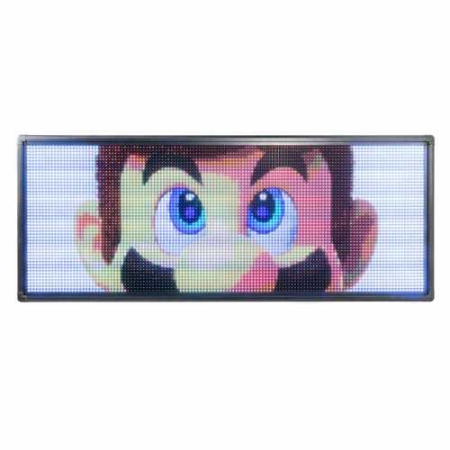 Letreiro De LED 100cm x 56cm Painel de LED RGB Colorido