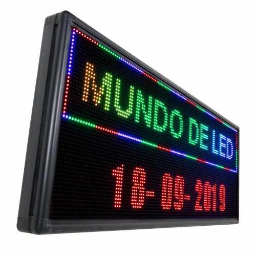 Letreiro De LED 167cm x 56cm Painel de LED RGB Colorido