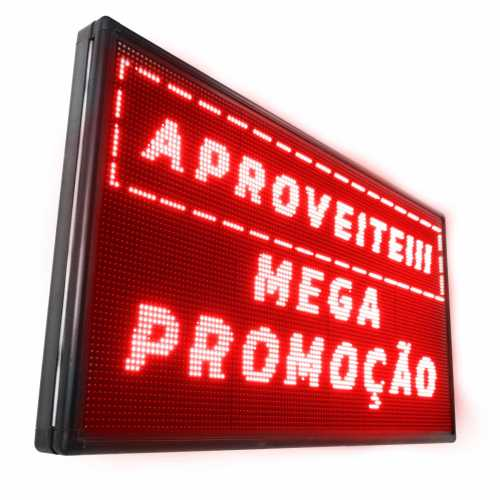 Painel De LED, Letreiro Digital 1m x 72cm Alto Brilho USB