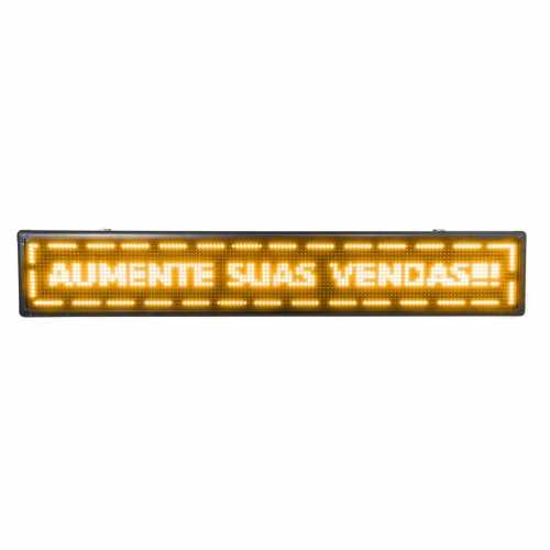 Painel De LED, Letreiro Digital luminoso 135cm x 23cm Alto Brilho USB